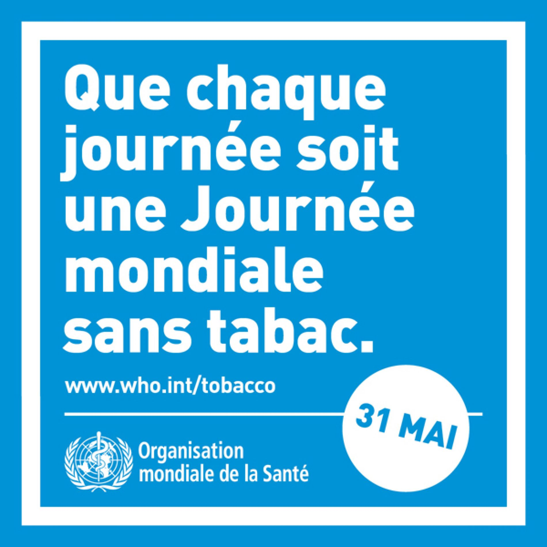 Journée mondiale sans tabac